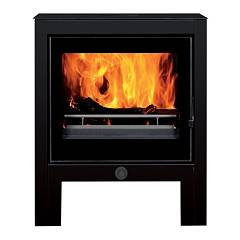 Caminetti Montegrappa Suzanne Natural convection hot air wood stove 9 kw - black steel structure