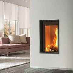 Caminetti Montegrappa Light 03 Wood-burning fireplace hot air natural convection 10.5 kw - sliding door Essential 03