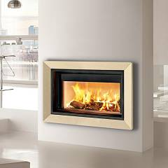 Caminetti Montegrappa Light 02n Wood-burning hot air fireplace with natural convection 13 kw - sliding door Frame 02