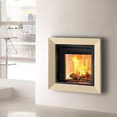 Caminetti Montegrappa Cm P01 Wood-burning fireplace hot air natural convection 8.6 kw sliding door Frame 01