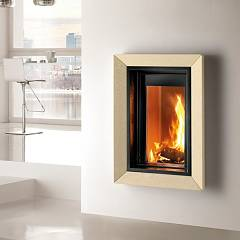 Caminetti Montegrappa Cm P03 Wood-burning fireplace hot air ventilated 10.3 kw door latch Frame 03