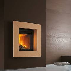 Caminetti Montegrappa Light 01 Wood-burning fireplace hot air natural convection 9 kw sliding door Cina