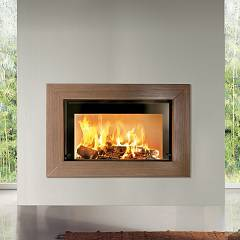 Caminetti Montegrappa Light 02n Wood-burning hot air fireplace with natural convection 13 kw - sliding door Venghè 02