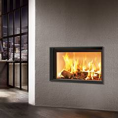 Caminetti Montegrappa Light 80-15 Wood-burning fireplace to heat water 15 kw - sliding door Essential 80l