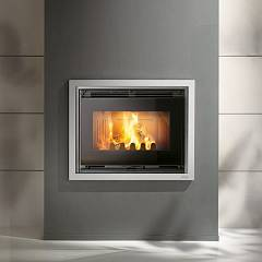 Caminetti Montegrappa Compact 70s Wood-burning insert hot air with natural convection 7.5 kw reversible door Minimal 70-80