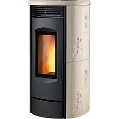 Caminetti Montegrappa Lw12 Pellet stove for water heating 12 kw - epoxy resin coating Alpina Xw