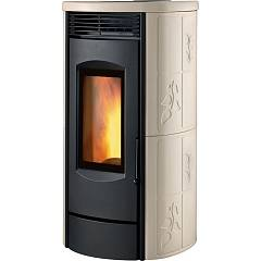Caminetti Montegrappa Lh9 Wood stove hot air natural convection 9 kw - epoxy resin coating Alpina Xw