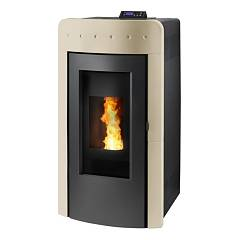 Caminetti Montegrappa Aq32 Pellet stove for water heating 32 kw - cream Atollo