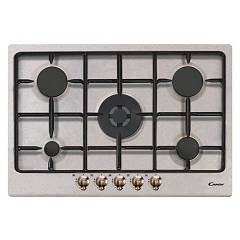 Candy Cpgc75swp Avg Cooking top cm. 75 - ivory - brass knobs