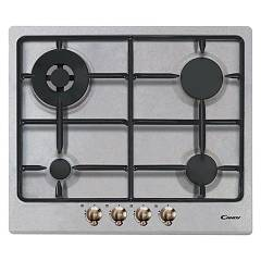 Candy Cpgc64swp Avg Cooking top cm. 60 - light gray - brass knobs