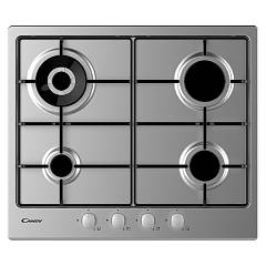 Candy Chw6br4wx Hob cm. 60- acier inoxydable Timeless
