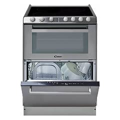 Candy Trio95031x Kitchen cm. 60 stainless steel 4 cooking zones - electric oven - dishwasher