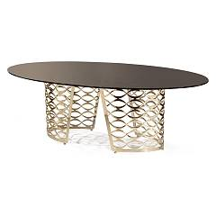 Cantori Isidoro Fixed oval table l. 220 x 140