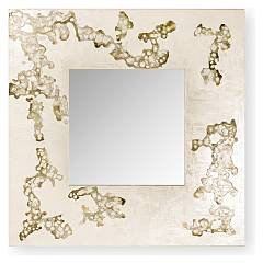 Cantori Africa Flowing Square mirror in wood l.90