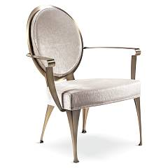 Cantori Miss Armchair in metal covered
