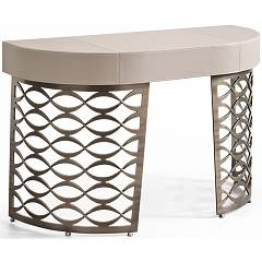 Cantori Isidoro Metal and leather desk
