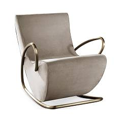 Cantori Camilla Rocking chair w metalu