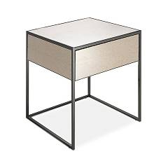 Cantori Narciso Bedside table 45 x 53 x 45 - iron structure with top and drawer covered in bronzed mirror