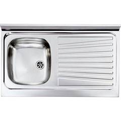Cm Lavelli 031033 Sx Supporting sink cm. 90 x 50 pre-loaded stainless steel 1 layer tank + right drawner Mondial Appoggio