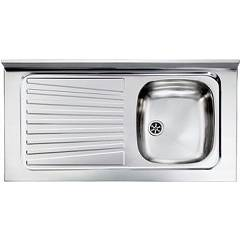 Cm Lavelli 031035 Dx Supporting sink cm. 100 x 50 pre-loaded stainless steel 1 right tank + left dropped Mondial Appoggio