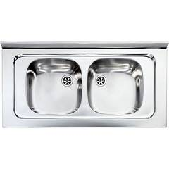 Cm Lavelli 031036 Supporting sink cm. 100 x 50 satin stainless steel 2 tanks Mondial Appoggio