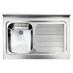 Cm Lavelli 031133 Sx Supporting sink cm. 90 x 60 satined stainless steel 1 layer tank + right drawner Rossana Appoggio