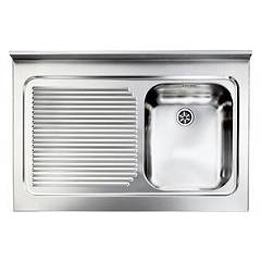 Cm Lavelli 031133 Dx Supporting sink cm. 90 x 60 satined stainless steel 1 right tank + left dropper Rossana Appoggio