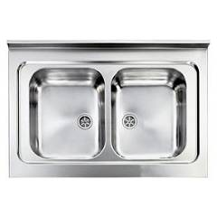Cm Lavelli 031134 Supporting sink cm. 90 x 60 satin stainless steel 2 tanks Rossana Appoggio