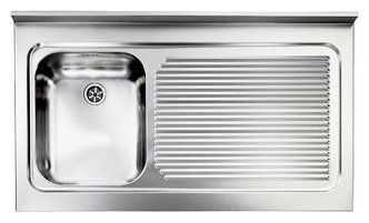 Lavelli Cucina 60 Cm.Cm Lavelli 031135 Sx Rossana Appoggio Supporting Sink Cm 105 X 60 Satined Stainless Steel 1 Layer Tank Right Drainer Vieffetrade