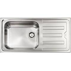 Cm Lavelli 010046 Sx Sink filotop cm. 100 x 50 satined stainless steel 1 layer tank + right drawner Cristal Filotop