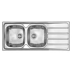Cm Lavelli 015447 Sx Sink 116 x 50 cm - 2 left bowls + right drainer - satin stainless steel Universal