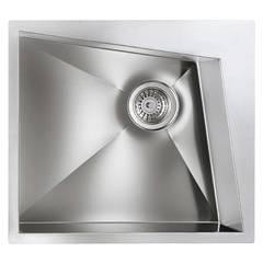 Cm Lavelli 012860 Dx Semi-flush sink cm. 55 x 50 satin-finished stainless steel - 1 right drain tank Space