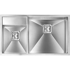 Cm Lavelli 012904 Dx Undermount sink cm. 86 x 50 satin stainless steel - 1 right basin + 1/2 left Ariel