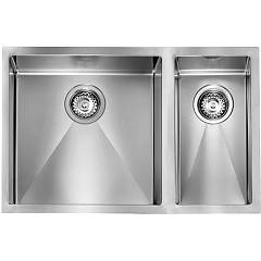 Cm Lavelli 012005 Sx Undermount sink cm. 69 x 45 - 1 bowl left + 1/2 right - satin stainless steel Filoraggiato