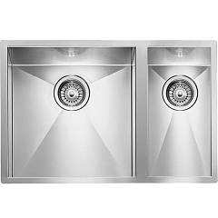Cm Lavelli 011922 Sx Filotop sink cm. 61 x 45 - 1 bowl left + 1/2 right - satin stainless steel Filoquadra