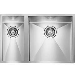 Cm Lavelli 011922 Dx Filotop sink cm. 61 x 45 - 1 bowl right + 1/2 left - satin stainless steel Filoquadra
