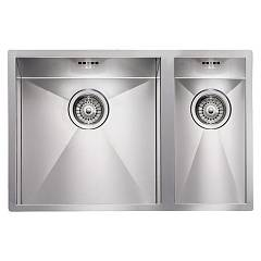 Cm Lavelli 011903 Sx Semi-flush sink cm. 67 x 45 - 1 bowl left + 1/2 right - satin stainless steel Filoquadra