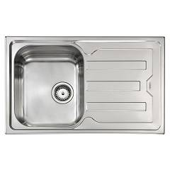 Cm Lavelli 010011.s1.01.2018 Sink cm. 79 x 50 - 1 left tank + right drainer - satin stainless steel Cristal