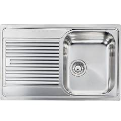 Cm Lavelli 011291 Dx Sink 79 x 50 cm - 1 right bowl + left drainer - scratch-resistant stainless steel Zenith