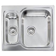 Cm Lavelli 011692 Dx Sink 58 x 50 cm - 1 bowl right + 1/2 left - scratch-resistant stainless steel Matico