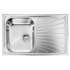Cm Lavelli 011491.s1.01.2016 Sink 79 x 50 cm - 1 left bowl + right drainer - scratch-resistant stainless steel Cometa
