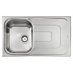 Cm Lavelli 011393 Sx Sink cm. 86 x 50 - 1 left bowl + right drainer - scratch-resistant stainless steel Pizzica