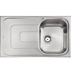 Cm Lavelli 011393 Dx Sink cm. 86 x 50 - 1 right tank + left drainer - scratch-resistant stainless steel Pizzica