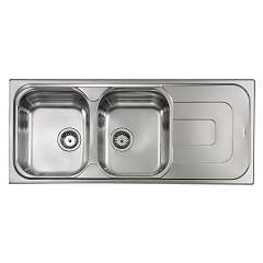 Cm Lavelli 011397 Sx Sink cm. 116 x 50 - 2 left tanks + right drip - scratch-resistant stainless steel Pizzica