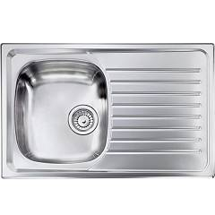 Cm Lavelli 010491 Sx Sink cm. 79 x 50 - 1 left tank + right drip - scratchproof stainless steel Siros