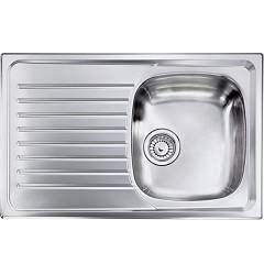 Cm Lavelli 010491 Dx Sink cm. 79 x 50 - 1 right tank + left drainer - scratch-resistant stainless steel Siros