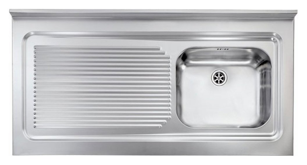 Lavelli Cucina 60 Cm.Cm Lavelli 031136 Dx Rossana Appoggio Supporting Sink Cm 120 X 60 Satined Stainless Steel 1 Right Tank Left Dropper Vieffetrade