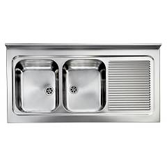 Cm Lavelli 031137 Sx Supporting sink cm. 120 x 60 satin stainless steel 2 layer tank + right drawner Rossana Appoggio