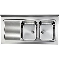 Cm Lavelli 031137 Dx Sink support cm. 120 x 60 - satin stainless steel - 2 right tanks + left drainer Rossana Appoggio