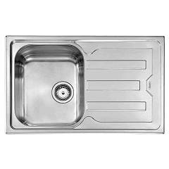 Cm Lavelli 010041 Dx Built-in sink 82 x 51 cm right-hand drainer - stainless steel Cristal Filotop